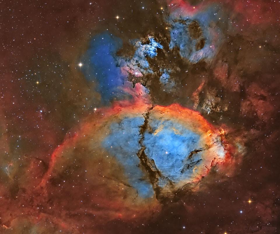 The Fish Head Nebula Narrowband astrophotography