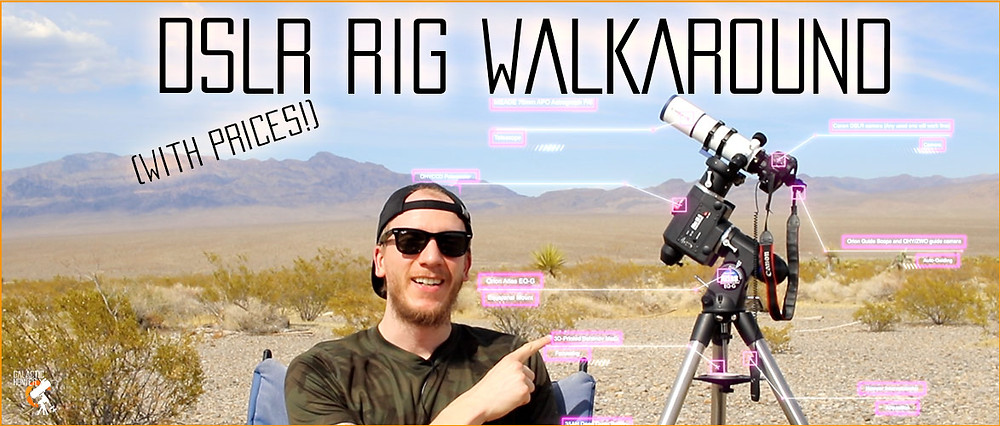 DSLR and small refractor Astrophotography setup walk-around with prices