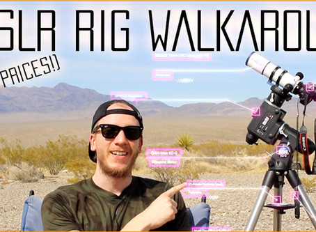 Beginner DSLR Astrophotography setup walk-around (With prices!)