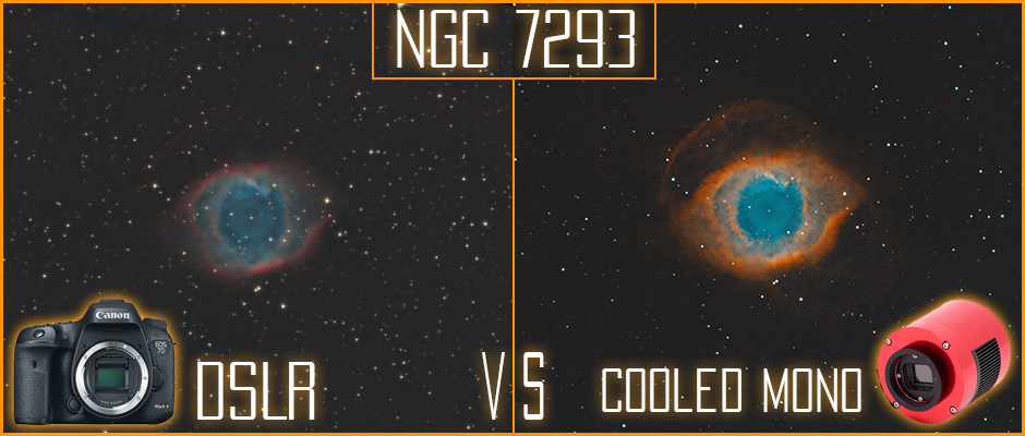 The Helix Nebula DSLR vs Narrowband imaging with a ZWO ASI 1600MM Astrophotography camera