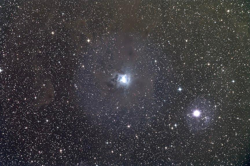 Iris Nebula unprocessed Master light