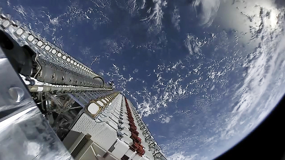 Starlink Satellites being launched into space
