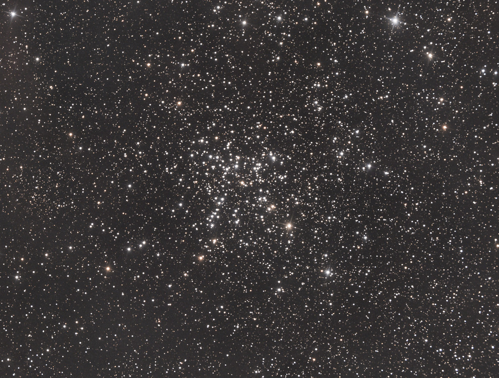 "M38, the Starfish Cluster, Open Cluster in Auriga - ZWO ASI 1600MM-Pro Astrophotography using a Orion 8"" Astrograph f/3.9 reflecting telescope in the Nevada desert and with an ASI Air, LRGB"