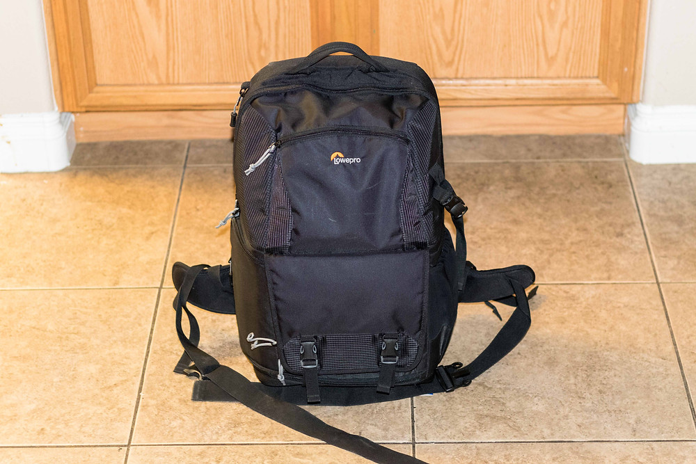 Our LowePro camera backpack for our DSLR and all the Astrophotography accessories we may need for imaging