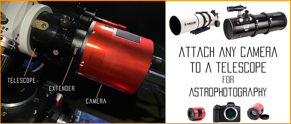 How to attach a camera to a telescope for Astrophotography tutorial