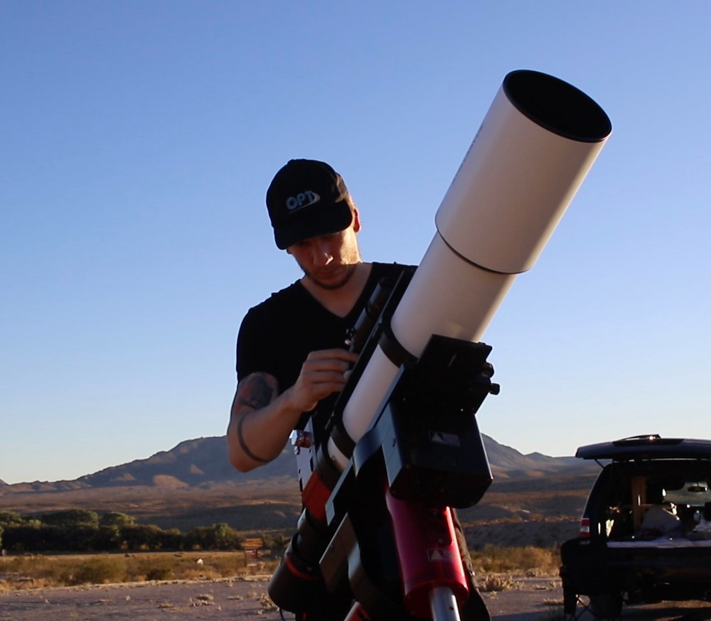 guy and a telescope