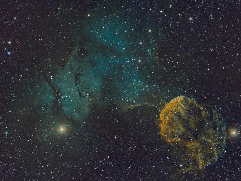 IC 443 Astrophotography in narrowband using the Meade 70mm APO and the ZWO ASI 1600MM