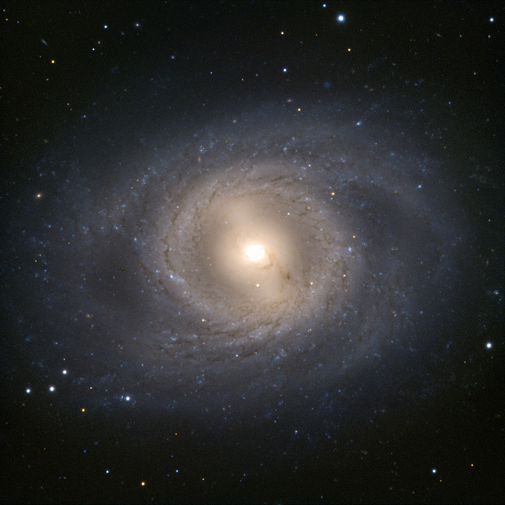 Messier 95 photographed by the Hubble Space Telescope, NASA/ESA, spiral galaxy in Leo