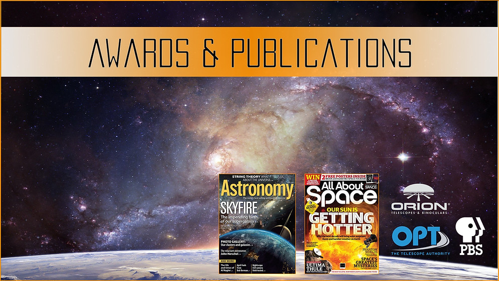 Galactic Hunter Astrophotography awards and publications, magazines, websites and other