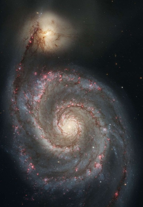 Messier 51 the Whirlpool Galaxy astrophotography by the Hubble Space Telescope