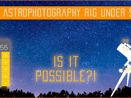 Full Astrophotography Setup under $1,200: Is it possible?