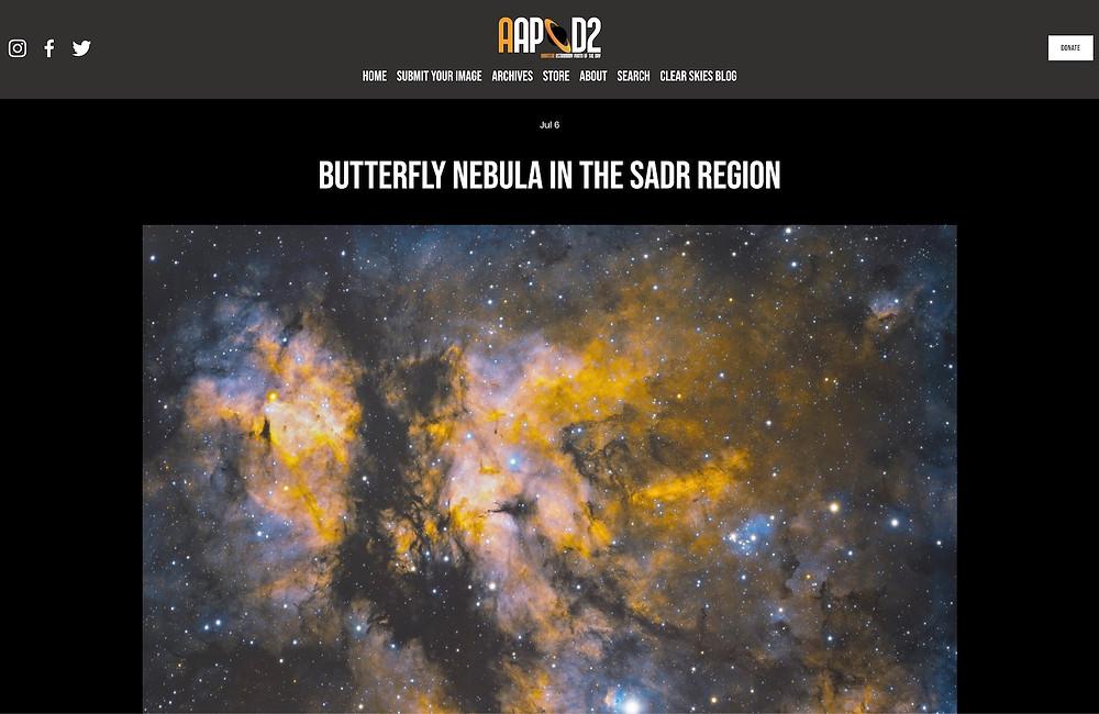 AAPOD2 Sadr Region and Butterfly Nebula by Galactic Hunter Antoine Grelin