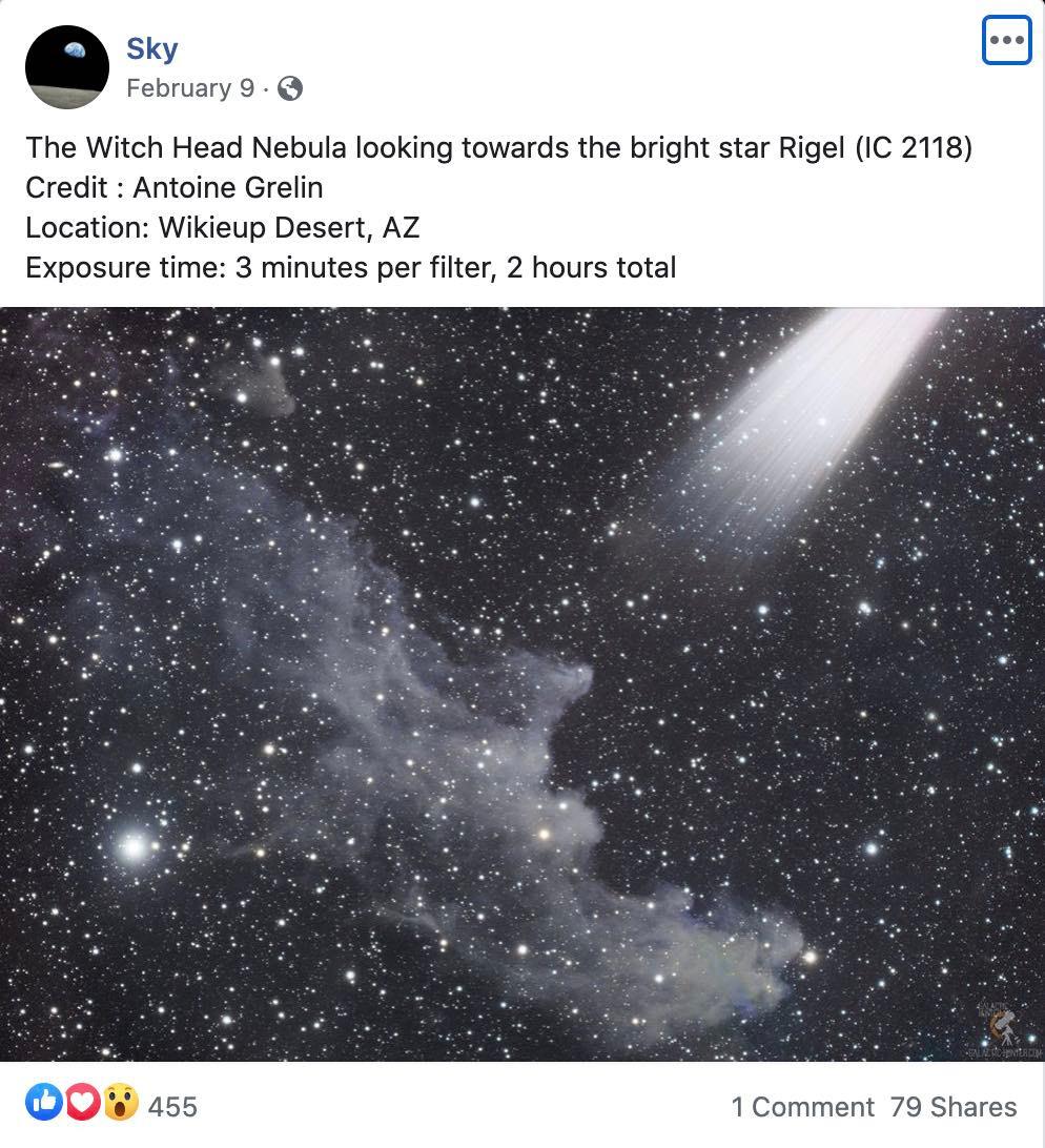 NASA's Sky Facebook page IC 2118