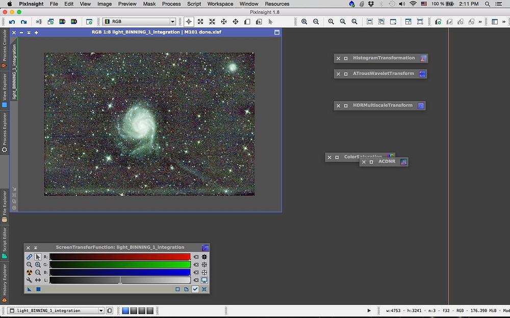 M101 pixinsight processing DBE