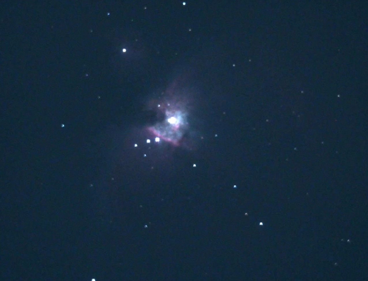 The Orion Nebula through the EVscope