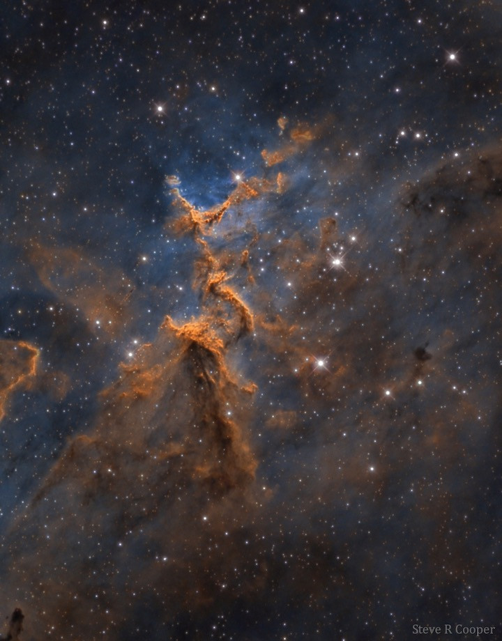 Melotte 15 in the Heart Nebula in narrowband Astrophotography