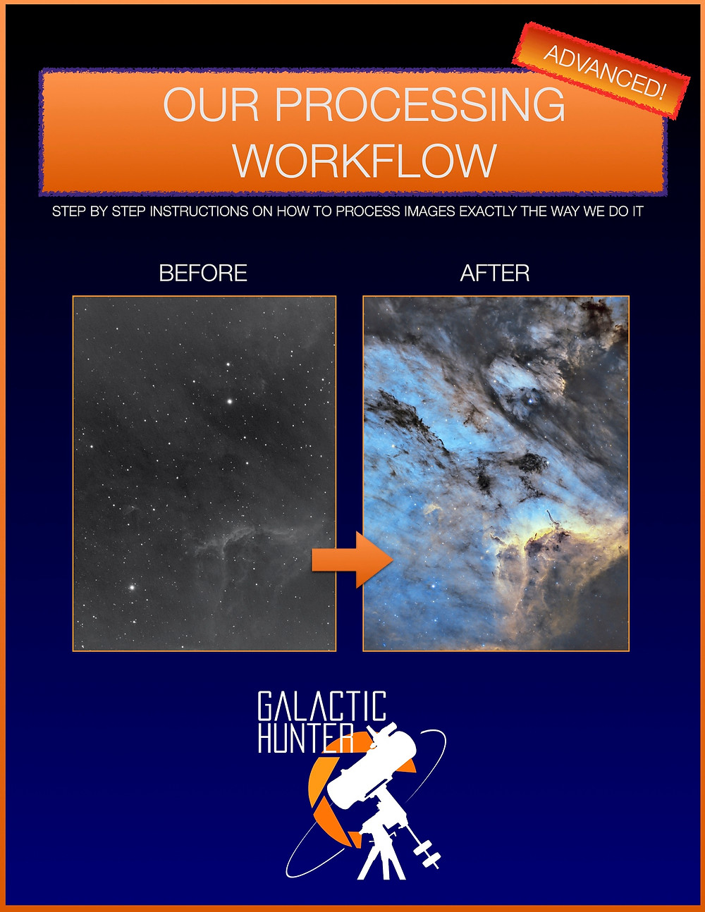Galactic Hunter PixInsight Processing Workflow PDF guide