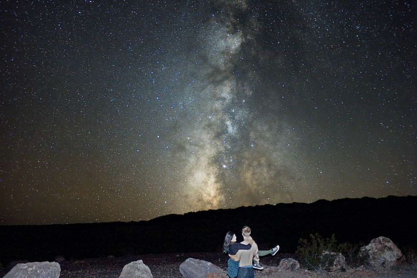 The Milky Way using a DSLR camera and lens.