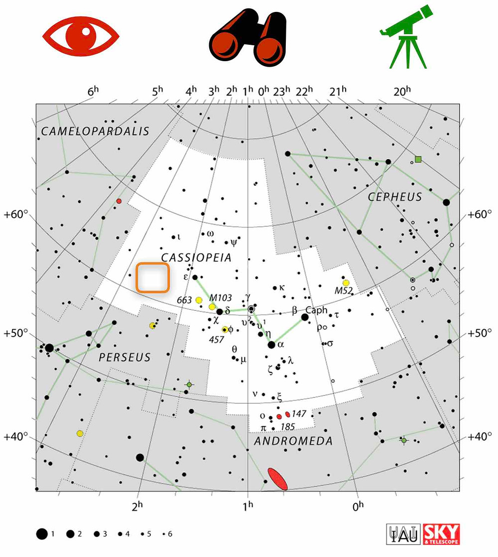 How to find the open Cluster Messier 71 in Sagitta in the night sky, map