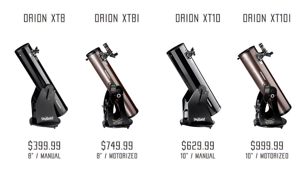 Orion XT8 and XT10 series telescopes