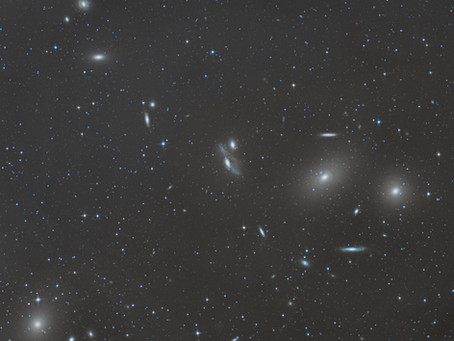Markarian's Chain - A Handful of galaxies photographed in virgo