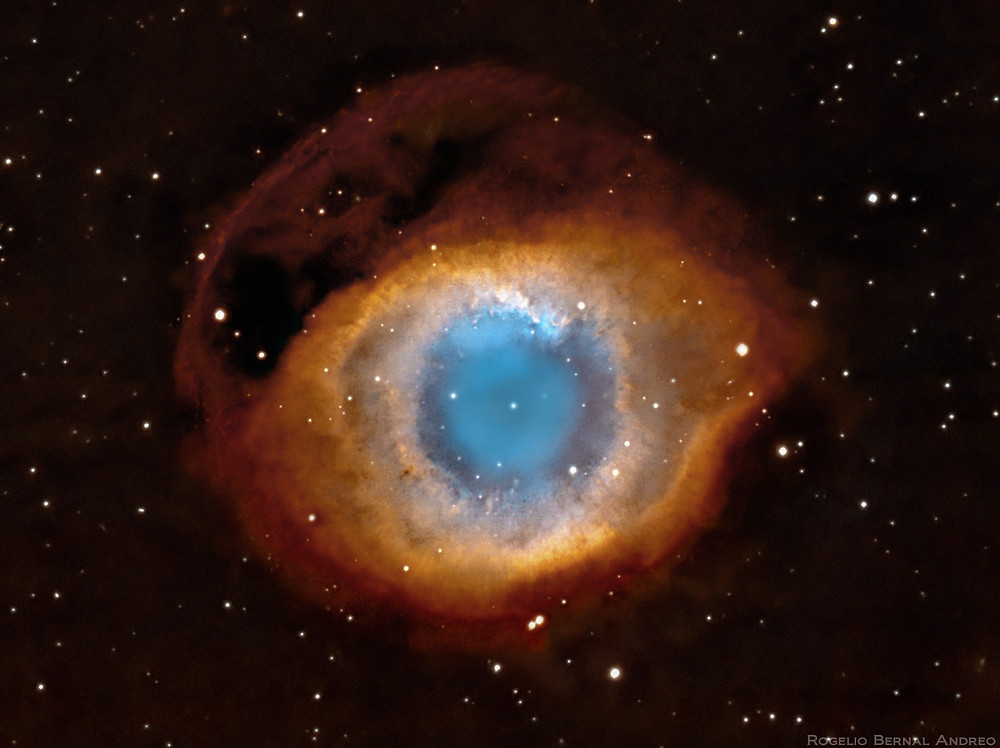 The Helix Nebula (NGC 7293) Astrophotography by NASA Using the Hubble Space Telescope