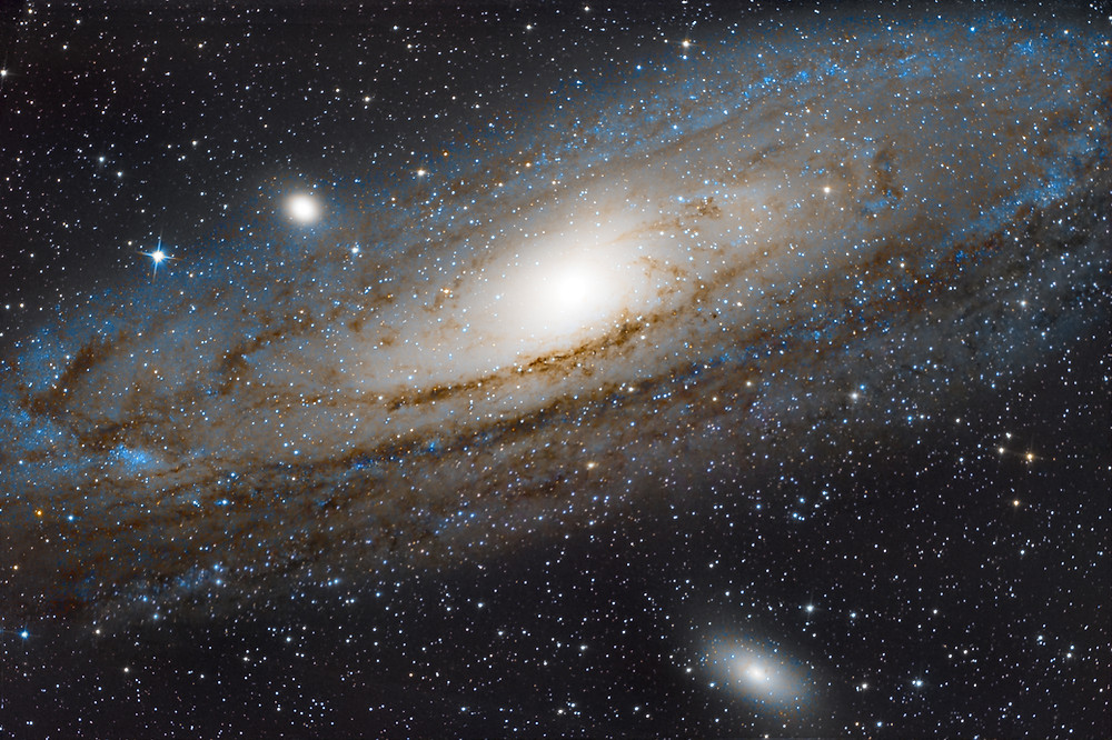 """Messier 31 the Andromeda Galaxy using a DSLR Canon camera, Astrophotography with an Orion 8"""" Astrograph telescope"""