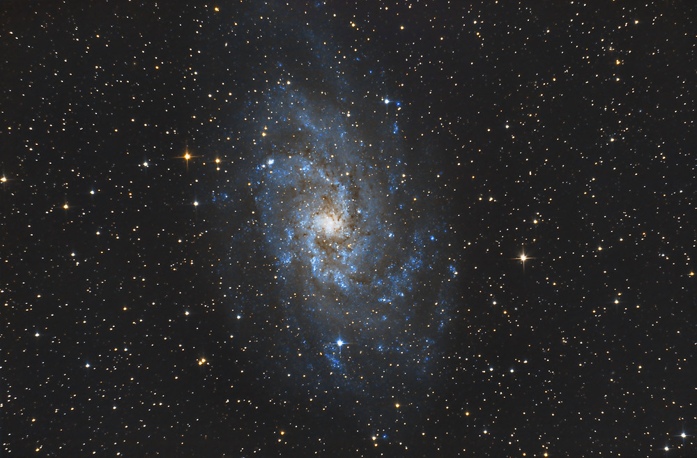 """M33 the Triangulum Galaxy astrophotography using an unmodified DSLR camera and an 8"""" telescope"""