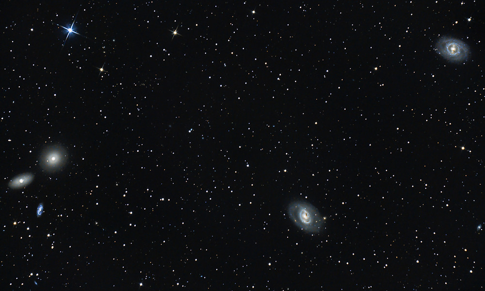 Messier 95 Group M95 M96 M105 DSLR Astrophotography Canon T3i Orion Telescope