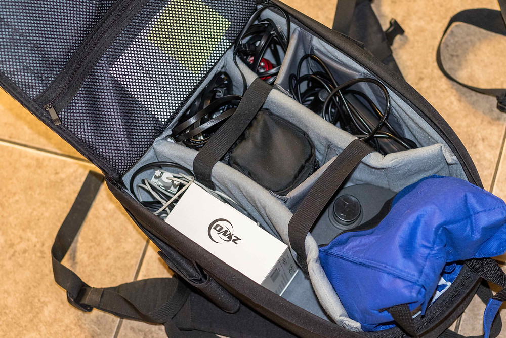 Ruggard Outrigger DSLR Camera backpack, perfect for Astrophotography, here is what is inside ours