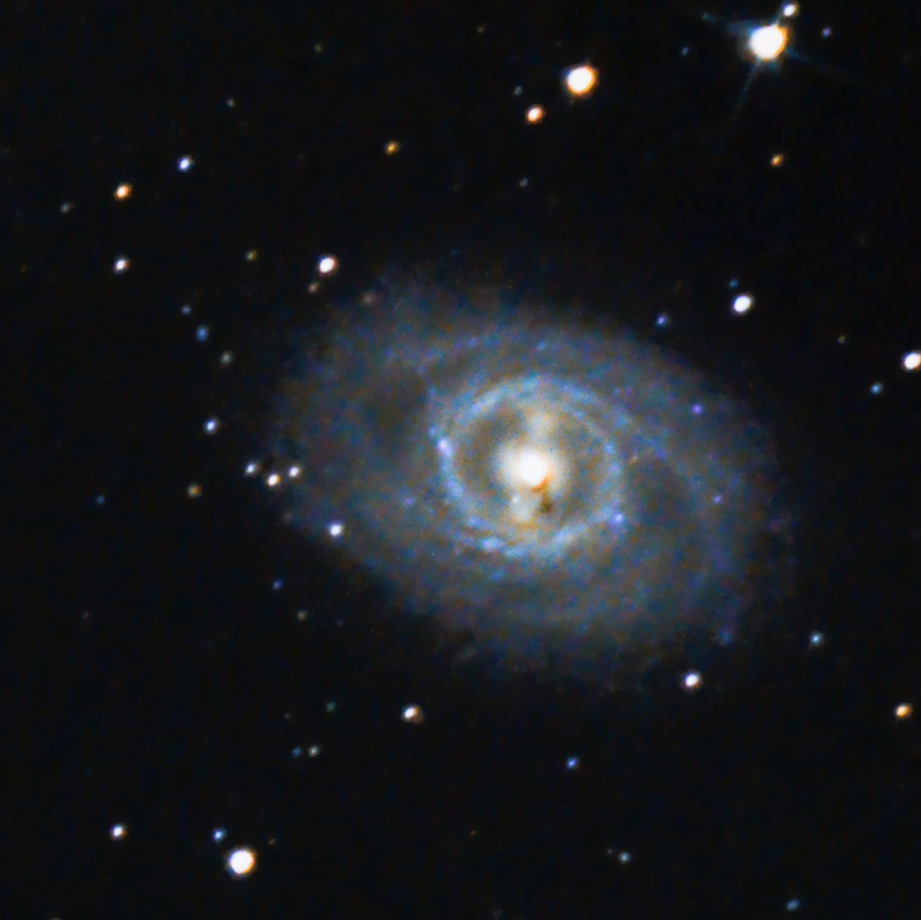 Messier 95 Galaxy in Leo, DSLR Astrophotography Canon T3i Orion Telescope