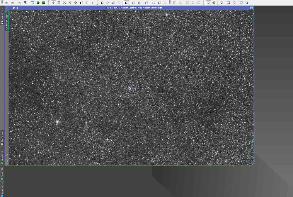120 30-sec frames on M26 stacked