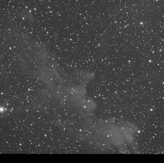 The Witch Head Nebula, Green channel with the ASI 1600MM