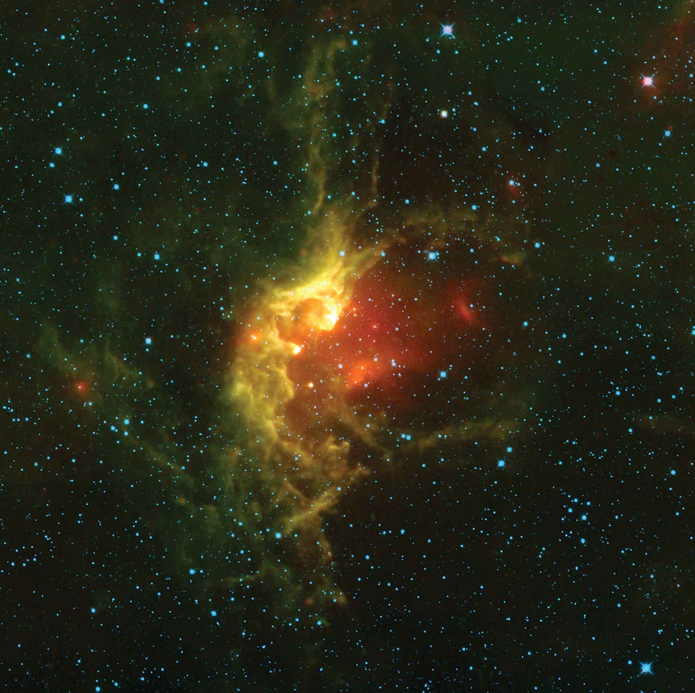 The Wizard Nebula NGC 7580 taken by the Hubble Space Telescope NASA