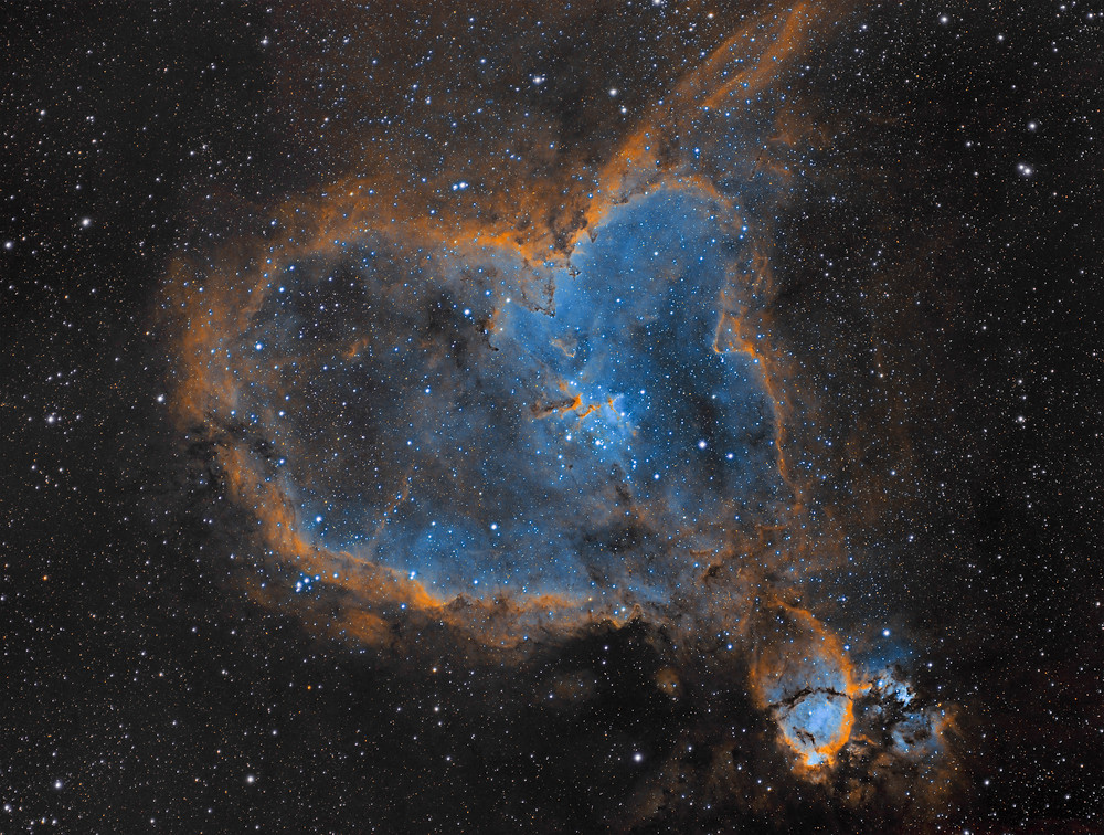 The Heart Nebula IC 1805 in Cassiopeia - ZWO ASI 1600MM-Pro Astrophotography the Nevada desert