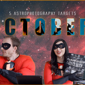 5 October Astrophotography Targets you can image this month!