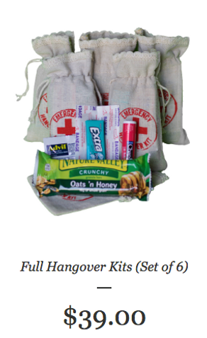 Complete Hangover Kits (Set of 6)