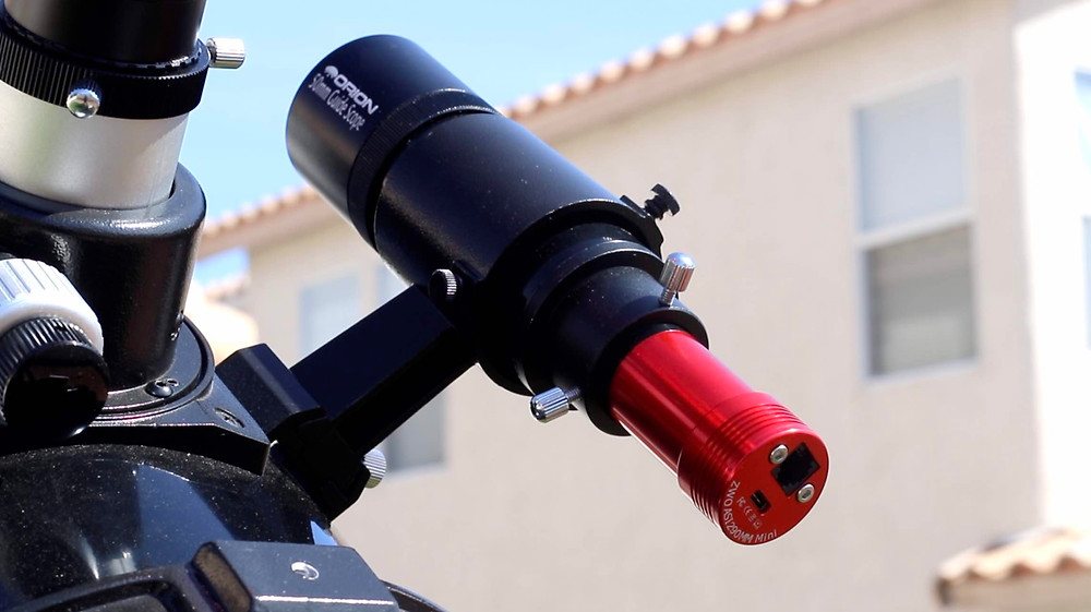 The Orion 50mm Guidescope and ASI 290MM Mini guide camera