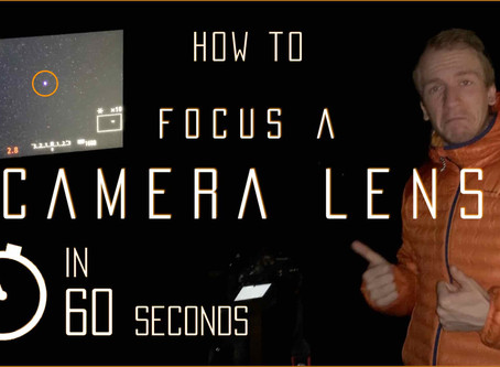 How to focus a DSLR camera lens on the stars in 60 seconds