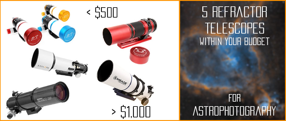 affordable Astrophotography refractors