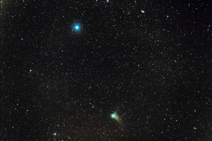 Comet Catalina & M51 using a DSLR camera and lens.