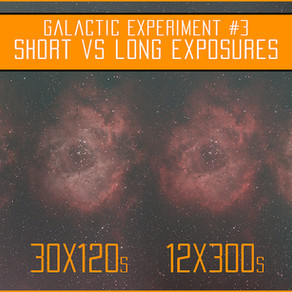 Short vs long exposures for astrophotography - Galactic Experiment 3