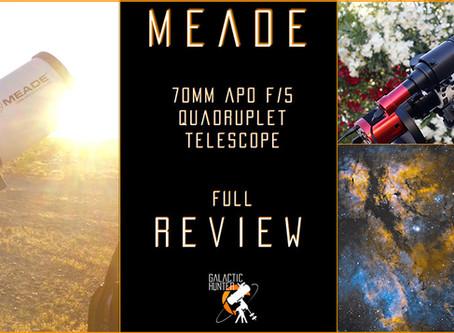 Meade 70mm APO f/5 Review - An incredible portable refractor telescope!