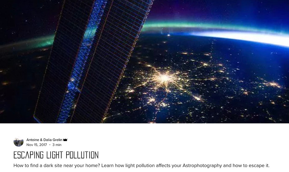 Light Pollution and astronomy