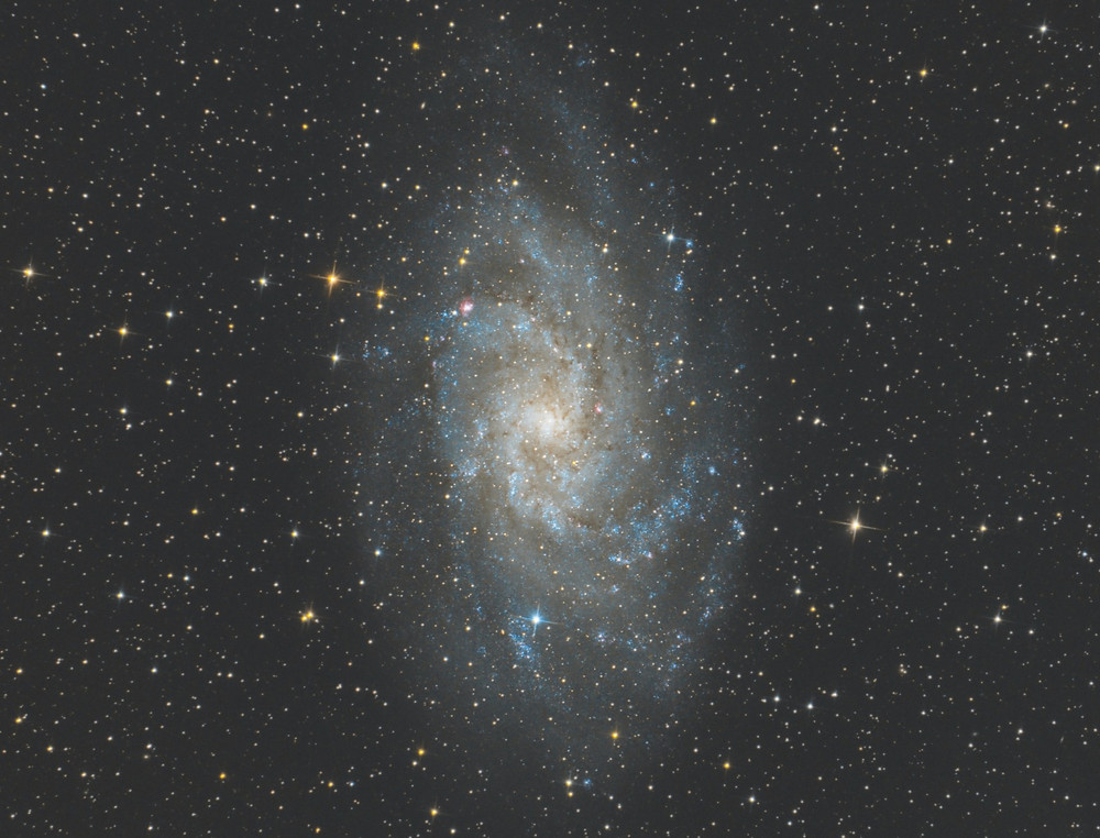 Messier 33 astrophotography QHY128C