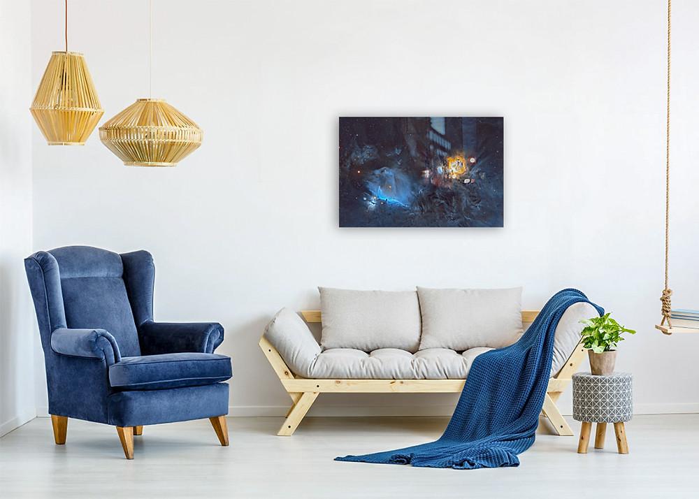 Horsehead Nebula and Orion Nebula metal print