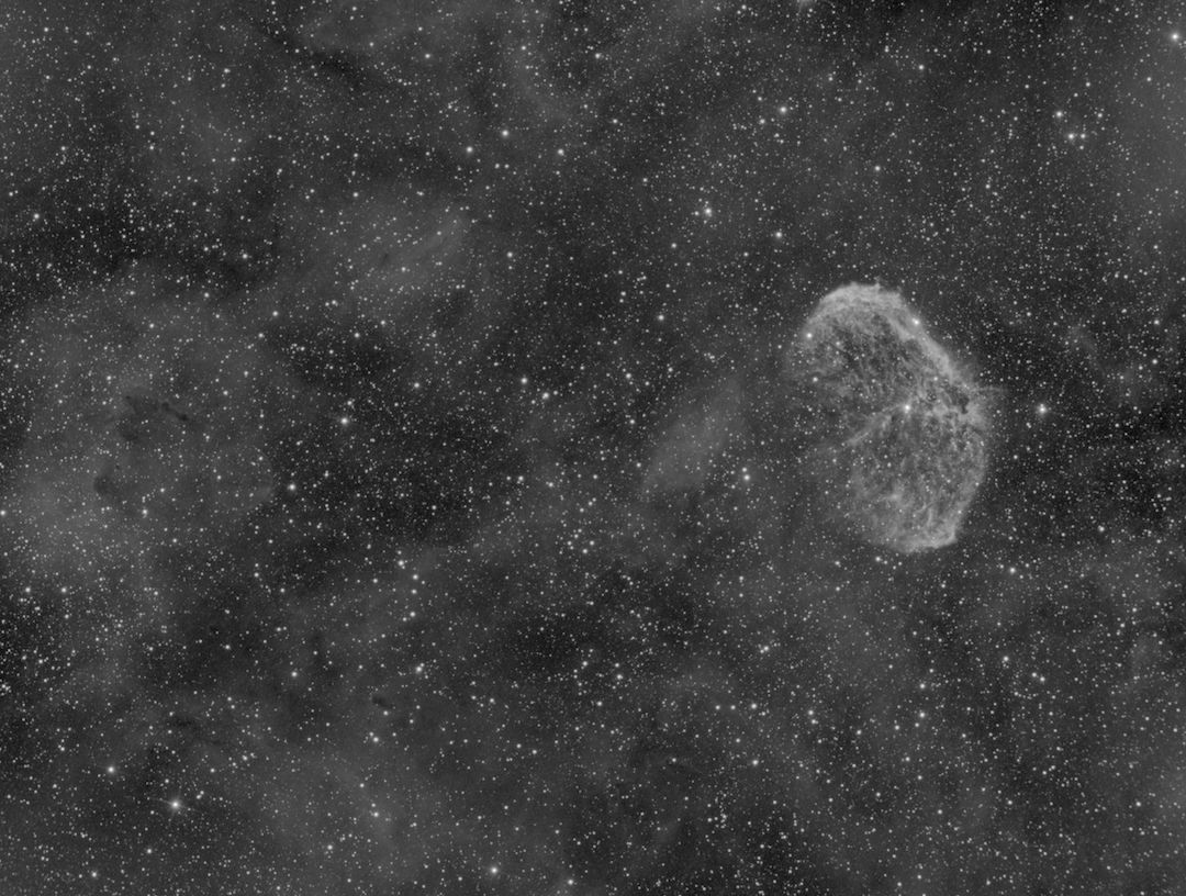 The Crescent Nebula in Hydrogen Alpha narrowband
