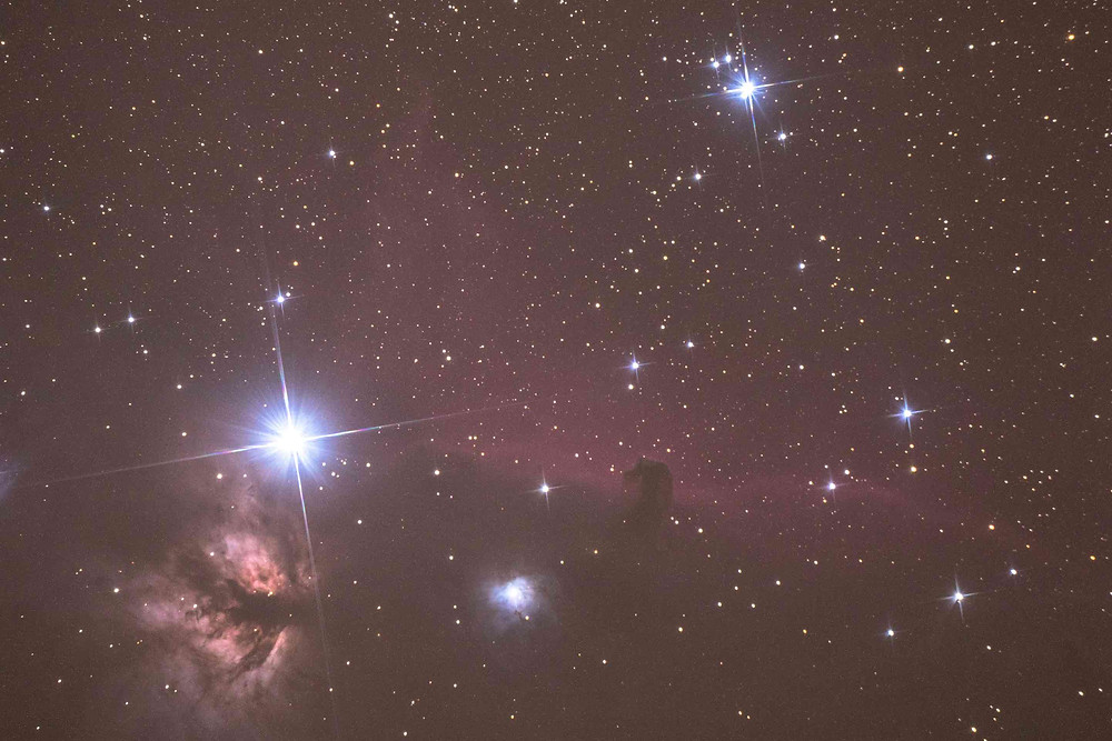 "IC 434 the Horsehead Nebula single 3 minute shot with an Orion 8"" Astrograph telescope"