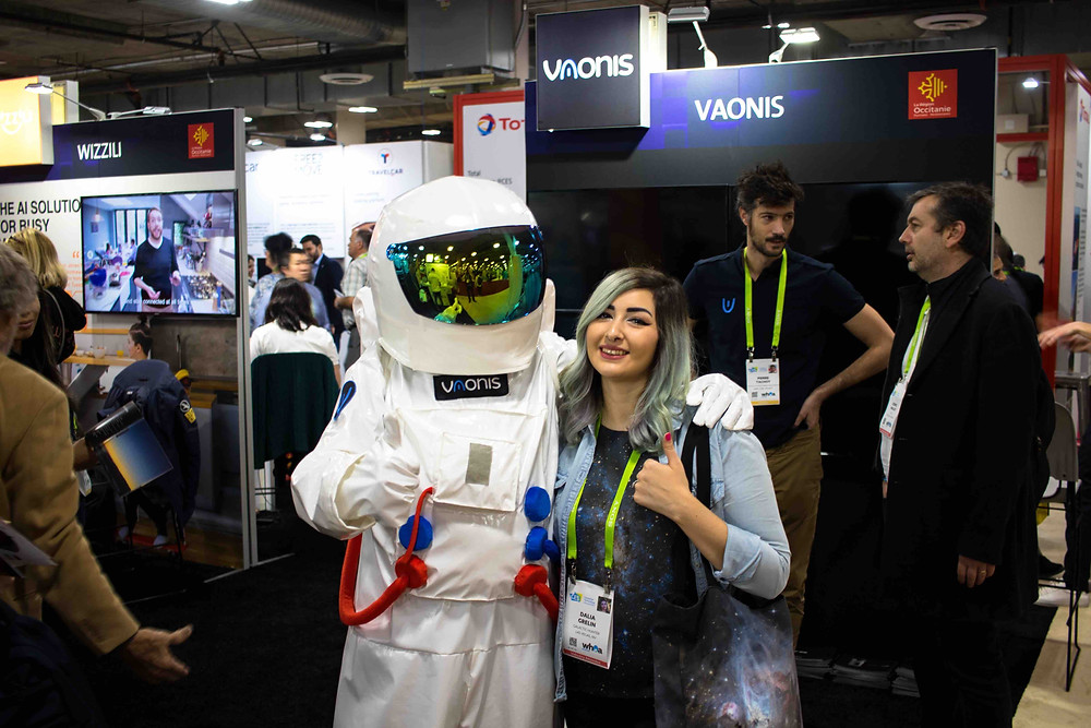 Stellina booth at CES 2018 Las Vegas - Smart telescope by Vaonis, full review by Galactic Hunter