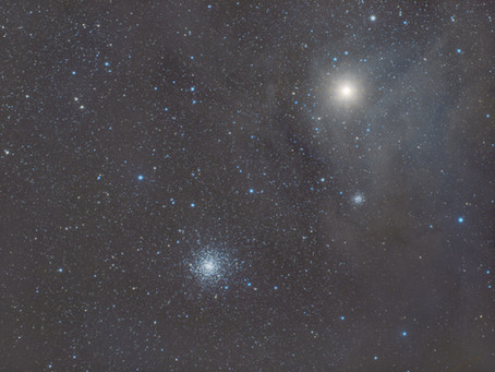 Messier 4 and Antares - A Cluster near Nebulosity
